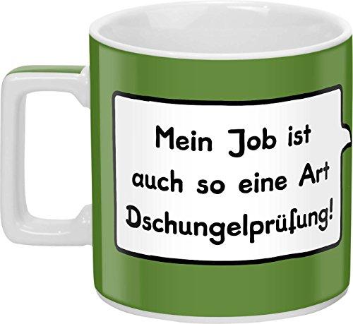 """Sheepworld 44061 Tasse \""""Mein Job ist auch so eine Art Dschungelprüfung!\"""""""