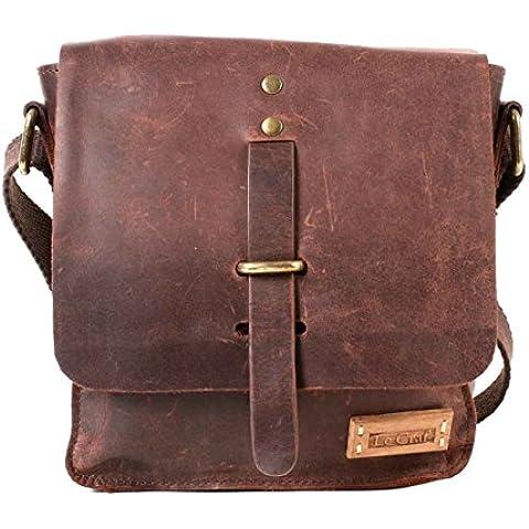 M93028 05-Borsa da picnic, colore: marrone, 100% Leather Crafter 2,5 TDI Le Bag (Designer Di Accessori Per Picnic)