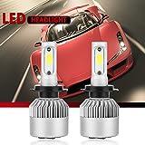 H7 LED Auto Scheinwerfer Lampen Hoch und Abblendlicht 35W 3600Lm 6000K Cool White All-in-One Umbausatz (2Stk) - 1 Jahr Garantie (H7)