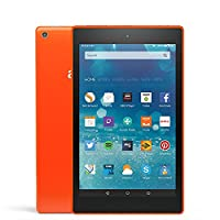 Fire HD 8 Tablet, 8'' HD Display, Wi-Fi, 8 GB (Tangerine) - Includes Special Offers