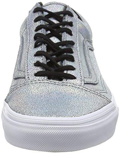 Vans Old Skool, Baskets Basses mixte adulte Argent - Silver (Matte Iridescent - Silver)