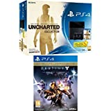 Pack PS4 500Go + Uncharted : The Nathan Drake Collection + PS Plus 3 mois + Destiny : le roi des corrompus - édition légendaire