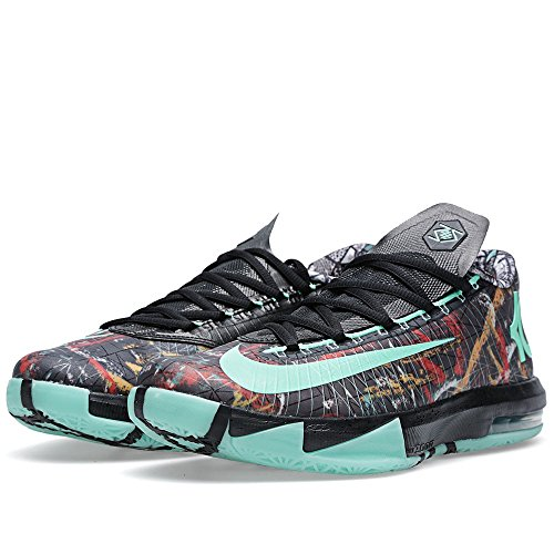 Nike - Basket De Basket-Ball KD VI - AS NOLA Gumbo All Édition All Star Game Illusion Homme 647781 930 Kevin Durant multi-color, green glow-black