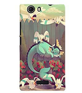 Citydreamz Cartoon Hard Polycarbonate Designer Back Case Cover For Micromax Canvas Nitro 2 E311