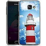 Samsung Galaxy A3 (2016) Hülle Schutz Hard Case Cover Leuchtturm Himmel Wolken