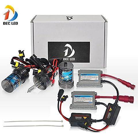 DEC LED de coches HID Xenon bulbos de l¨¢mparas HID H1 Kit de conversi¨®n de bulbo de la linterna 12V 35W Individual 1 par de haz amarillo