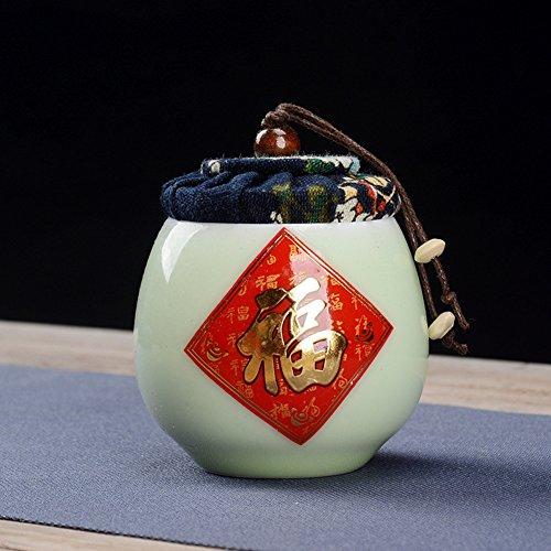 Vaso di porcellana,Canister de thé,Coffres de stockage de thé,Service à thé Thé de kung-fu Pot de lait-F 7x7cm(3x3inch)