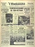 humanite l du 23 08 1963 commemoration du coup de feu de fabien terreur dechainee au sud vietnam deception et colere chez les viticulteurs du midi espagne extension de la greve dans les asturies khrouchtchev a rendu visite a skopje la ville martyre la roumanie fete le 19eme anniversaire de sa liberation