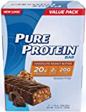 Pure Protein 50 g High Protein Bar - 20 g Protein - 6 Bars (Chocolate Peanut Butter)