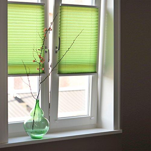 Sol Royal Plissee SolDecor P25 – 45×100 cm Grün – Klemm-Fix ohne Bohren – Plissee-Rollo Jalousie für Fenster & Türen - 9