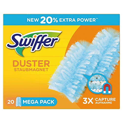 Swiffer Staubmagnet-Tücher, Mega Nachfüllpack, 20 Stück -