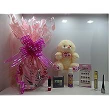 Glory Cosmetics Limited Edition - Cesta de maquillaje y oso de peluche (7 piezas)