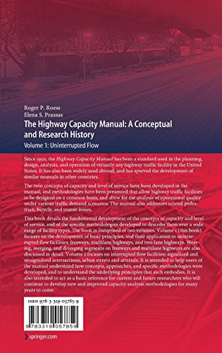 1: The Highway Capacity Manual: A Conceptual and Research History (Springer Tracts on Transportation and Traffic)