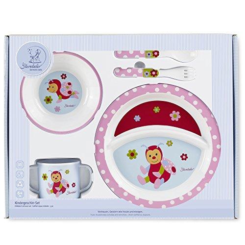 Sterntaler Set de vaisselle Katharina, Assiette, bol, cuillère, fourchette, Tasse, Âge: Pour les bébés à partir de 6 mois, Rose