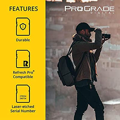 SD Card V90 (256GB) –Up to 250MB/s Write Speed and 300 MB/s Read Speed | For Professional Vloggers, Filmmakers, Photographers & Content Curators –Update Firmware Included – By Prograde Digital