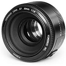 Yongnuo YN50MM Canon - Objetivo f/1.8 (46º, ø 52 mm), color negro