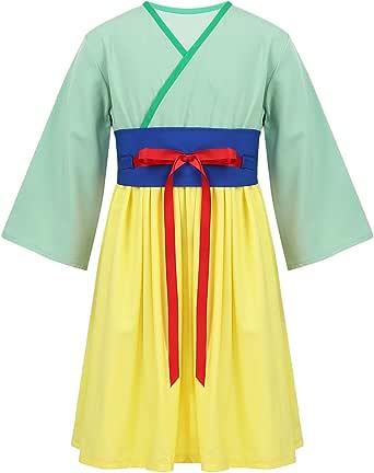 Kinder Hua Mulan Kostüm Prinzessin Cosplay Halloween chinesisches Hanfu Kostüm