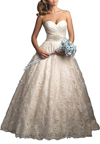 Ebelz trägerlos Spitzenixe Tüll Hochzeitskleid