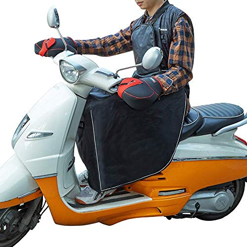 PU Universal Regenschutz Motorroller mit Lenkerhandschuhe Radsport Handschuhe Motorrad wetterschutz greatdaily Beinschutz Roller Winter beinschutzdecke beinabdeckung Motorroller
