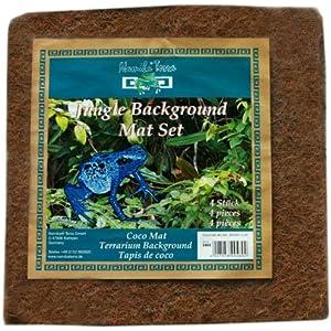 Namiba Terra 0461 Jungle Background Mat, Kokosfasermatten-Set 4-Stück im Beutel, 40 x 40 x 1.2 cm