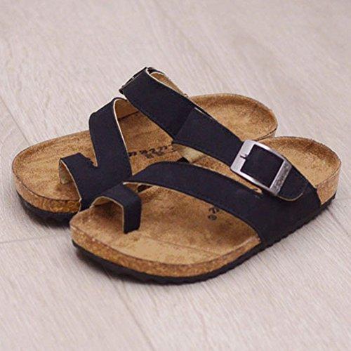 Une Série de Couleurs Chaussures - Enfants Unisexes Tongs Sandales Noir