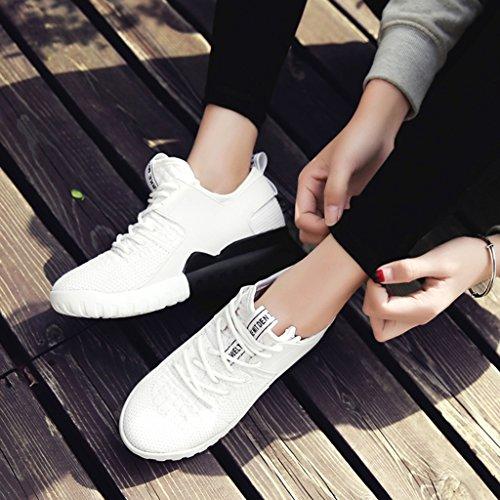 HWF Scarpe donna Scarpe sportive a rete Scarpe casual femminili Scarpe da corsa piatte traspiranti Scarpe da donna Primavera ( Colore : Bianca , dimensioni : 35 ) Bianca