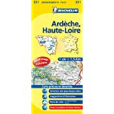 michelin - Carte departement - 331 - Ardeche, Haute-Loire - 1cm = 1.5km