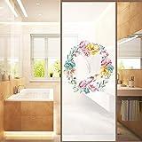 JJLESUN2 Aufkleber An Der Tür Selbstklebende Folie Wasserdichtes Badezimmer Glasschiebetür Aufkleber Glasfenster Für Fenster