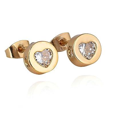 heart stud earrings for girls   pixshark     images