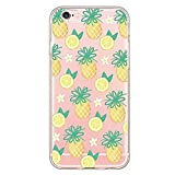 Inonler Very attractive pineapple and lemon Pattern soft transparent case(iPhone 5C,gold)