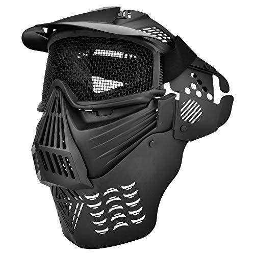 Steel Mesh Protective Mask Tactics Einstellbare Maske Wettkampfschutzausrüstung Hohe Schlagfestigkeit, geringes Gewicht, komfortabel und atmungsaktiv -