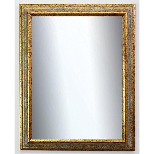 Online Galerie Bingold Spiegel Wandspiegel Badspiegel Flurspiegel Garderobenspiegel - Über 200 Größen - Bari Grau Gold 4,2 - Außenmaß des Spiegels 50 x 70 - Wunschmaße auf Anfrage - Antik, Barock