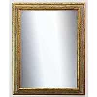 XL Retro Wandspiegel Gold Ø 50cm Bad-Spiegel Dekoration Barock Antik Rokoko Deko