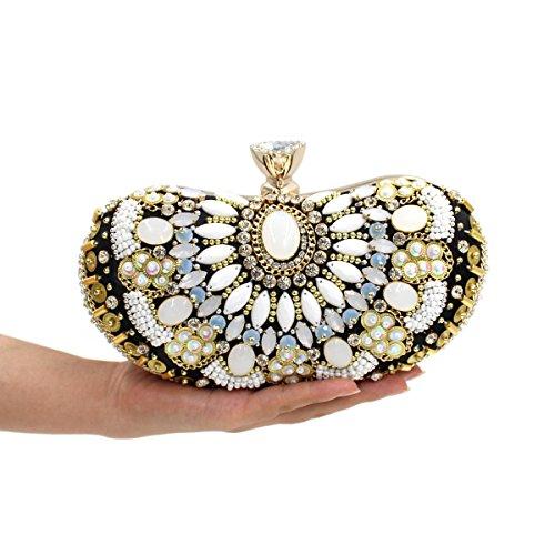 WYB Wulstige Diamant Abendtasche / Kupplung / Luxus-Top / Heavy gems Abendtasche / Brautbeutel style 2