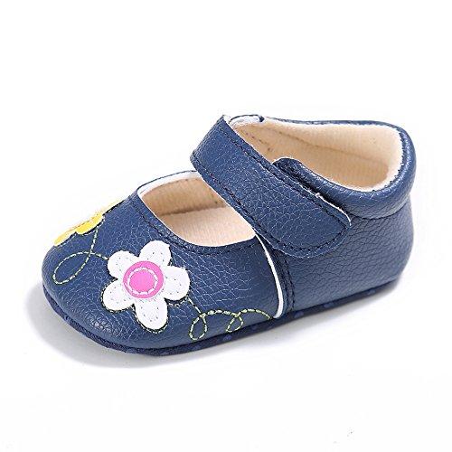 ESTAMICO , Chaussures premiers pas pour bébé (fille) - bleu - bleu marine,