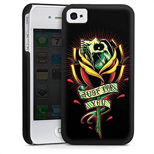 Apple iPhone 5 Housse Étui Silicone Coque Protection Tatouage Crâne Fleur Gothic Cas Premium mat