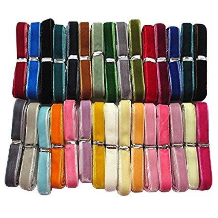 """chenkou Craft 30yardas 3/8""""10mm cinta de terciopelo Total 30colores surtidos Lots Bulk"""