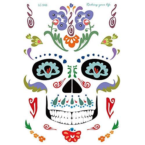 Qiusa Halloween Hot Stamping Tattoos Body Art gefälschte -
