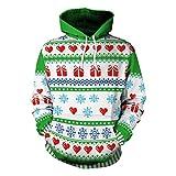 LUCKYCAT Weihnachten Unisex 3D Druck Hoodies Kapuzenpullover Langarm Pullover Kapuzenpulli Sweatshirt Kapuzenjacke