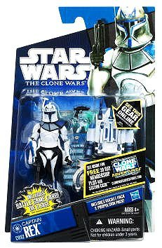 Hasbro Captain Rex with Propulsion Pack inkl. Battle Game Card CW62 - Star Wars The Clone Wars 2011 (Rex Wars Clone)