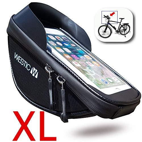 WESTIC LT-19 Lenkertasche Handyhalterung für Fahrrad Halter wasserdichte Schutzhülle bis 6,4