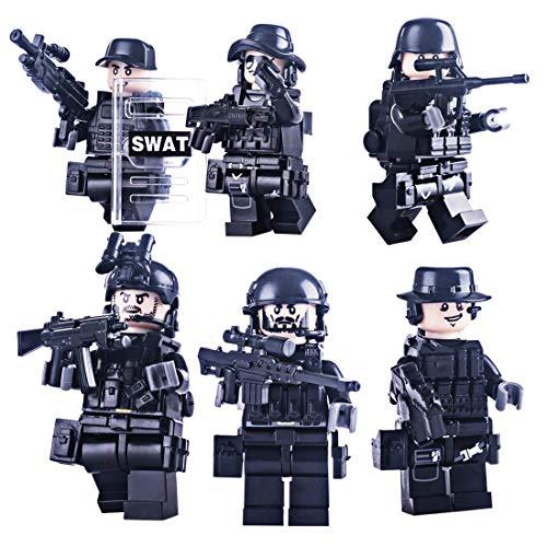 Spieland Mini Figuren Minifiguren Set SWAT Armee Minifiguren Spielzeug Geschenk Pädagogisches Kinder