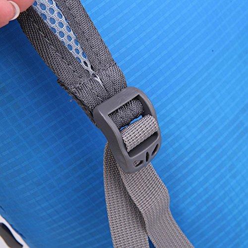 HWJF La borsa esterna del sacchetto della pelle di può essere piegata zaino portatile di tendenza impermeabile portatile dello spalla , dark blue Dark Blue