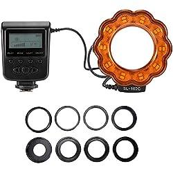 Macro-LED Lampe de poche pour appareil photo reflex numérique + 8 anneaux d'adaptation