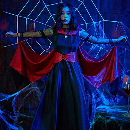 Königin Damen Teufels Kostüm - ASDF Halloween Kleid Königin Kleid Vampir Fledermaus Nachtbar Teufel Kostüm