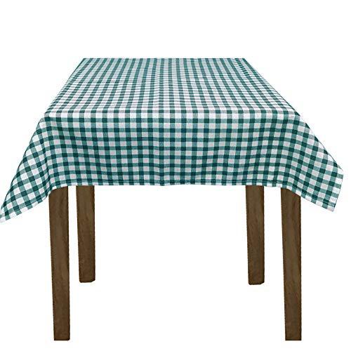 JEMIDI Stofftischdecke für Bistrotische Tischdecke kariert Tischdecken Decke Tisch Tischdecken 90cm x 90cm Grün Karo