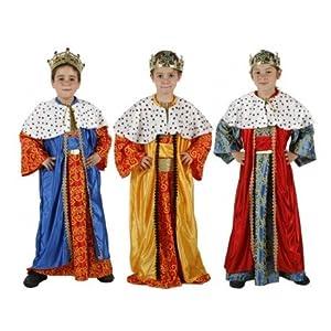 Atosa-32133 Disfraz Rey Mago Niño Infantil, Multicolor, 7 a 9 años (32133)