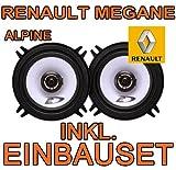 Renault Megane 1 - Lautsprecher vo + hi - Alpine SXE-1325s - Koax-System