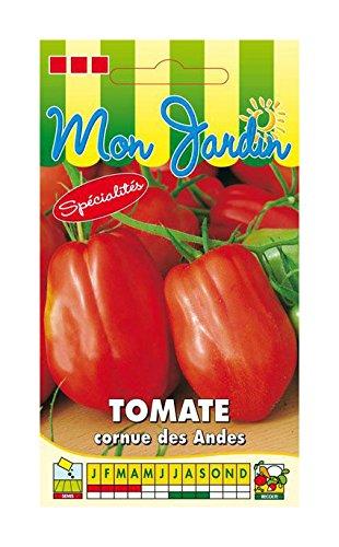 Les Graines Bocquet - Graines De Tomate Andine Cornue - Graines Potagères À Semer - Sachet De 0.2Grammes