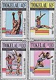 Tokelau 184-187 (complète.Edition.) 1992 Jeux Olympiques Été (Timbres pour Les collectionneurs) Basket-Ball/Volley-Ball/Handball